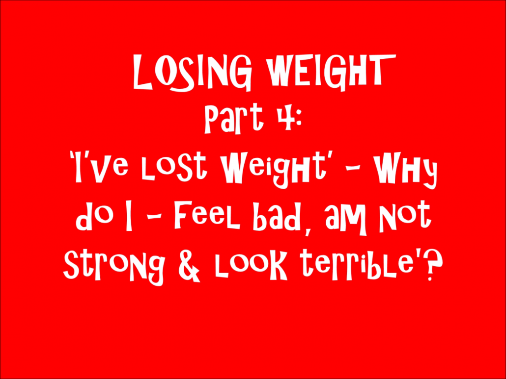 Losing Weight, Weight Loss, Fat Loss